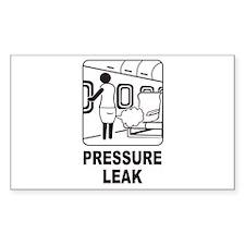 Pressure Leak Rectangle Sticker