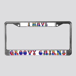Groovy Cairn Terrier License Plate Frame