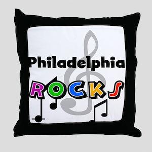 Philadelphia Rocks Throw Pillow