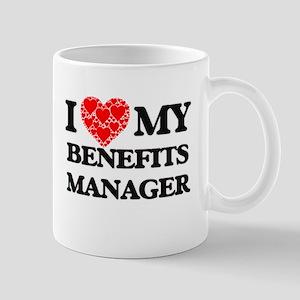 I Love my Benefits Manager Mugs