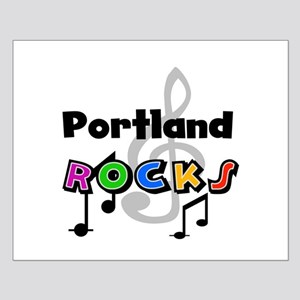 Portland Rocks Small Poster