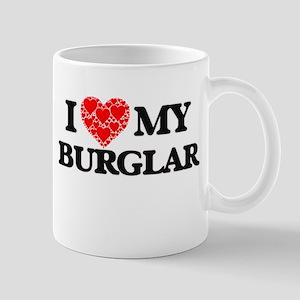 I Love my Burglar Mugs