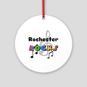 Rochester Rocks Ornament (Round)
