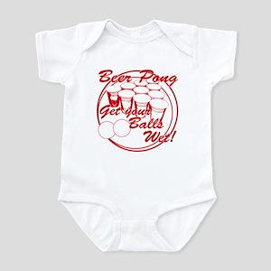Beer Pong Balls Wet - Red Infant Bodysuit