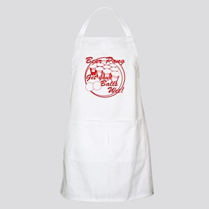 Beer Pong Balls Wet - Red BBQ Apron