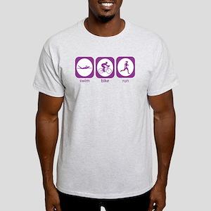 Swim Bike Run Light T-Shirt