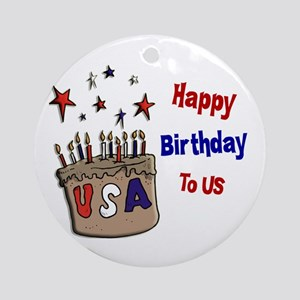 Happy Birthday To Us 1 Ornament (Round)