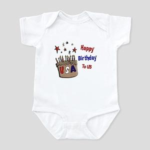 Happy Birthday To Us 1 Infant Bodysuit
