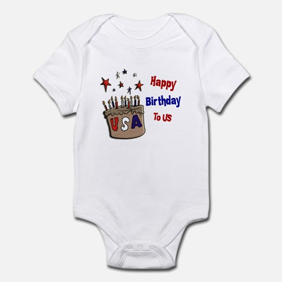 Happy Birthday To Us 1 Infant Bodysuit