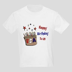 Happy Birthday To Us 1 Kids Light T-Shirt