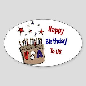 Happy Birthday To Us 1 Oval Sticker