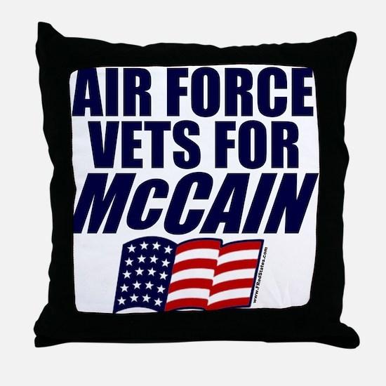 Airmen for McCain Throw Pillow