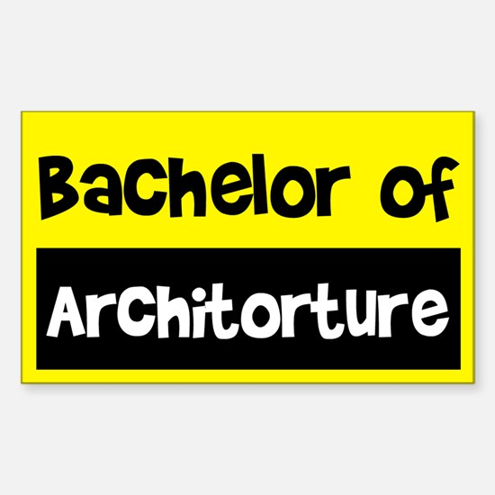 Bachelor of Architecture Rectangle Decal