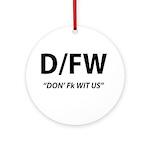 D/FW Round Ornament