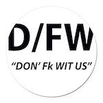 D/FW Round Car Magnet