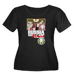 RUSSIA 2008: Women's Plus Size Scoop Neck T-Shirt