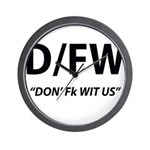 D/FW Wall Clock