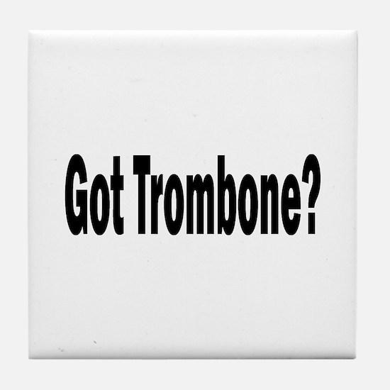 Trombone Tile Coaster