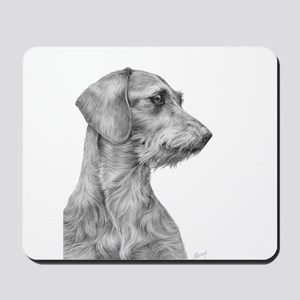 Wirehaired Dachshund 1 Mousepad