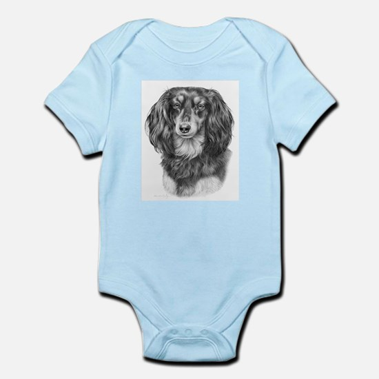 Longhaired Dachshund #1 - Bla Infant Creeper