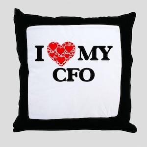 I Love my Cfo Throw Pillow