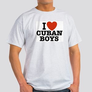 I Love Cuban Boys Ash Grey T-Shirt