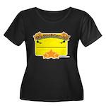 My Label Women's Plus Size Scoop Neck Dark T-Shirt