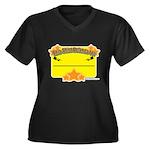 My Label Women's Plus Size V-Neck Dark T-Shirt