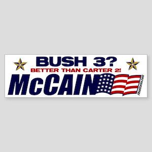 Bush 3 vs Carter 2 Bumper Sticker