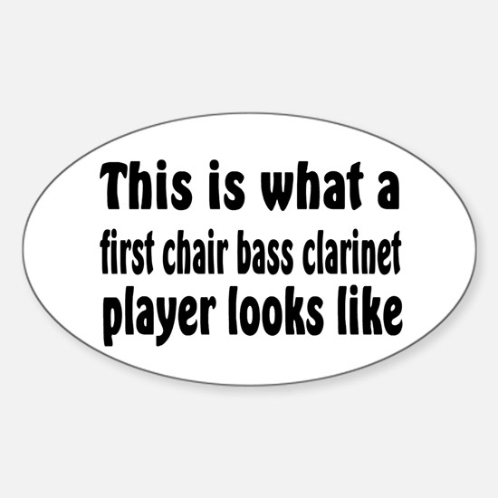 Bass Clarinet Oval Decal