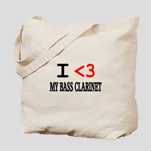 I Heart Bass Clarinet Tote Bag