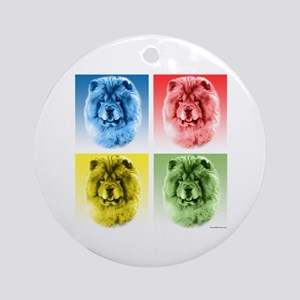 Chow Chow Pop Art Ornament (Round)