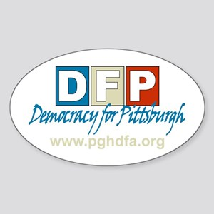 Democracy for Pittsburgh Oval Sticker