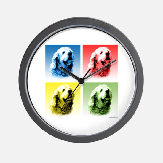 Cocker Pop Art Wall Clock