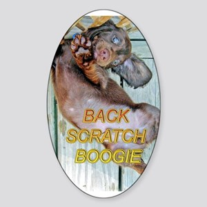 Back Scratch Boogie Oval Sticker