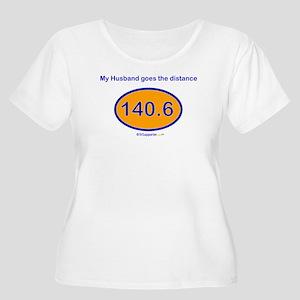 140.6 Distance Husband Women's Plus Size Scoop Nec
