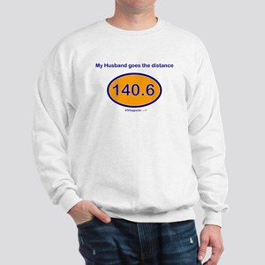 140.6 Distance Husband Sweatshirt