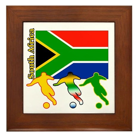 South Africa Soccer Framed Tile