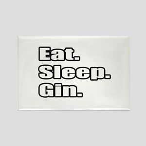 """Eat. Sleep. Gin."" Rectangle Magnet"