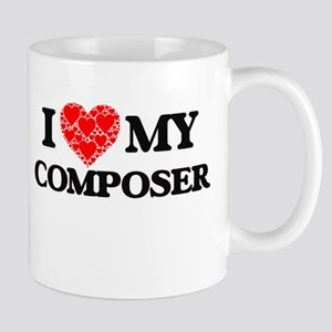 I Love my Composer Mugs