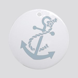 Nautical Anchor Ornament (Round)