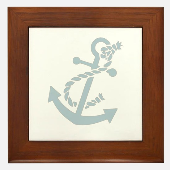 Nautical Anchor Framed Tile