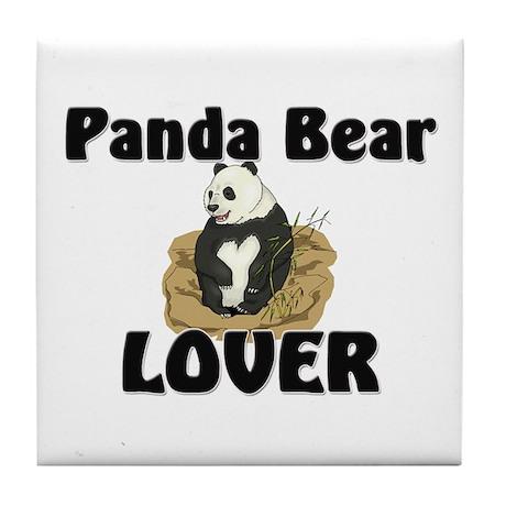 Panda Bear Lover Tile Coaster