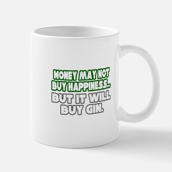 """Money, Happiness, Gin"" Mug"