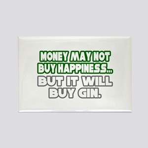 """""""Money, Happiness, Gin"""" Rectangle Magnet"""