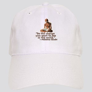Gandhi Quote Be the Change Cap