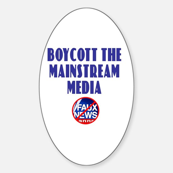 Boycott Mainstream Media Oval Decal