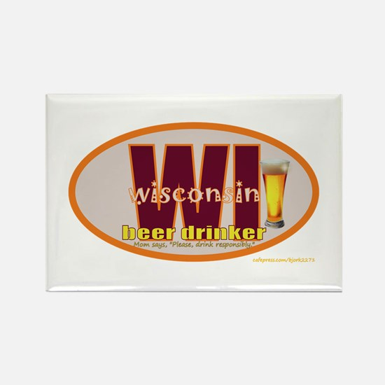 Funny Beer lover Rectangle Magnet