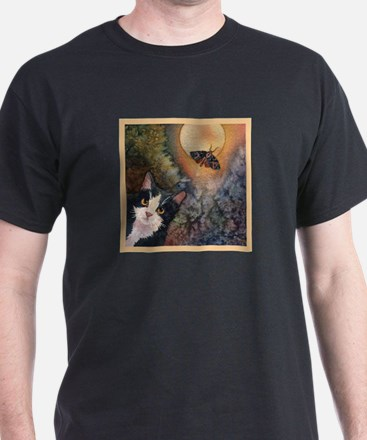 Tuxedo Cat, Moonlight, and Mo T-Shirt