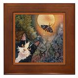 Tuxedo cats Framed Tiles